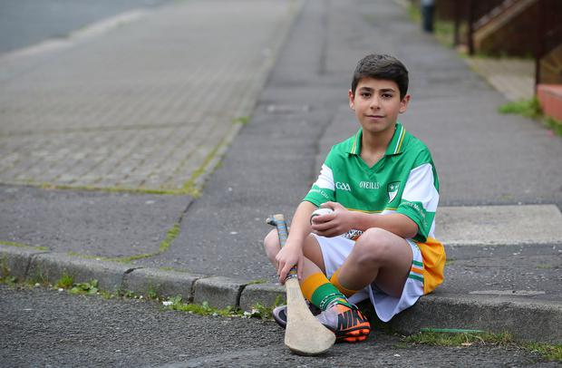 A natural: Muhammad Al Haj Kadour has fallen in love with hurling since arriving in Belfast