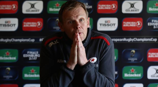 Man with a plan: coach Mark McCall has been an integral part to Saracens' impressive rise