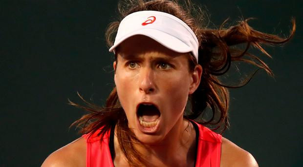 Determined: Johanna Konta is fired up for slam success