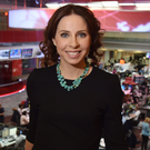 News junkie: Rachel Horne in the BBC newsroom