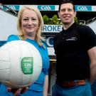 Final call: Tyrone skipper Sean Cavanagh and Rosemary Steen, EirGrid Director of External Affairs, at the Croke Park launch of next Saturday's EirGrid U21 All-Ireland Final in Tullamore