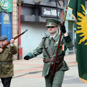 Republicans parade in Belfast - April 2017