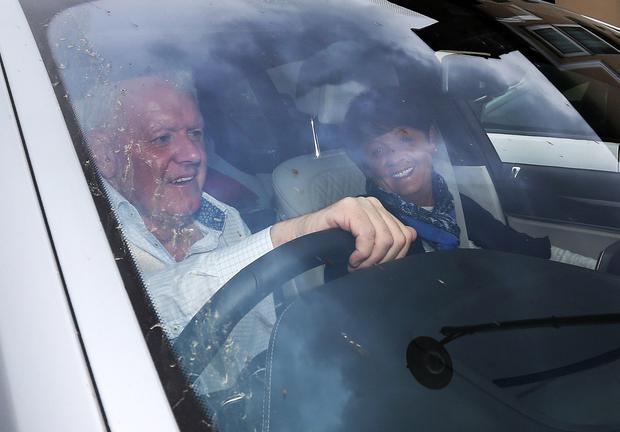 Rory McIlroy's parents, Gerry and Rosie pictured leaving Ashford Castle, Cong Co. Mayo after yesterday's wedding of Rory McIlroy and Erica Stoll. Picture credit; Damien Eagers 23/4/2016