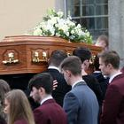 Funeral of schoolboy Conall O'Hare at St. Patrick's Church Bryansford, Co Down
