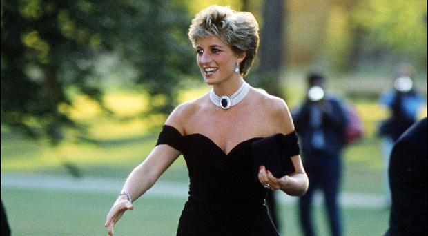 A stylish Diana arrives at a function in London in 1994