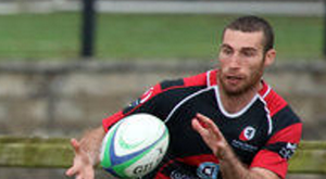 On target: Ricky Andrew scored one of Rainey's three tries at Sligo