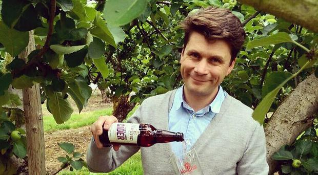 Greg MacNeice of MacIvors Cider with its plum and ginger variety
