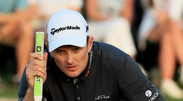 Eyeing it up: Justin Rose will prepare for the Open Championship at the Irish Open in Portstewart. Photo: Andrew Redington/Getty Images