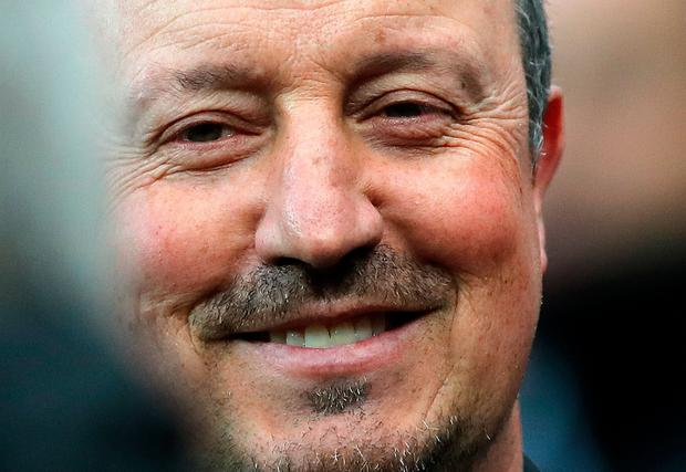 Newcastle manger Rafael Benitez during the Sky Bet Championship match at St James' Park, Newcastle. PA