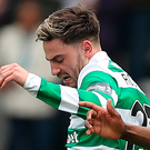 Sore one: Patrick Roberts felt the impact of Andy Halliday. Photo: Ian MacNicol/Getty Images