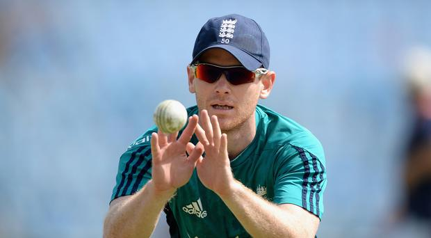 Countdown: England ODI captain Eoin Morgan gets in some practice ahead of next week's biennial Tests