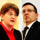 Arlene Foster and Robin Swann