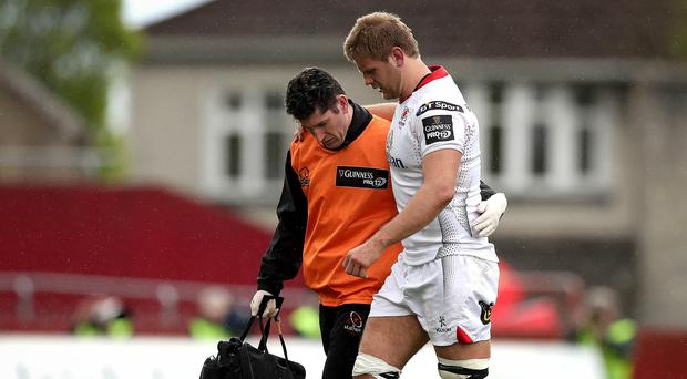 On the sidelines: Chris Henry hasn't recovered from the injury that led to him going off against Munster