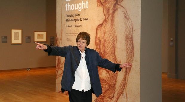 Bridget Riley, who is widely considered to be one of the greatest living British artists, paid a visit to the Ulster Museum's Lines of Thought exhibition