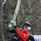 Power play: Chris Dougherty reached 100 runs from 94 balls