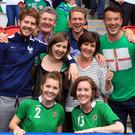 Carmel McGovern (middle row, second from right)with her husband Terry and other family members and friends in France during Euro 2016 where they were watching Michael playing for Northern Ireland