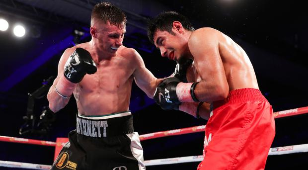 Golden opportunity: Ryan Burnett (left) will fight for the World crown at the SSE Arena in June