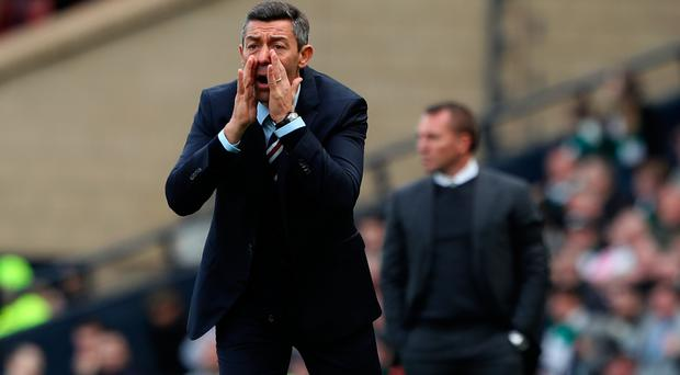Rallying call: Pedro Caixinha wants Gers to show the passion he feels was lacking during their Hampden defeat to Celtic