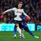 In contention: Spurs' Christian Eriksen