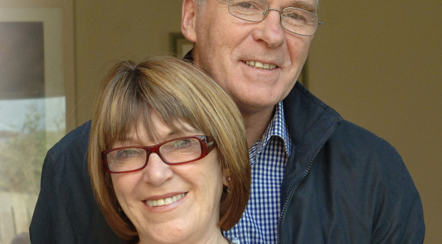 Playwright Marie Jones with her husband Ian McElhinney