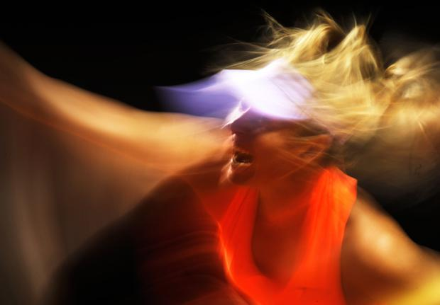 Maria Sharapova of Russia serves during her match against Erkaterina Makarova of Russia during the Porsche Tennis Grand Prix at Porsche Arena on April 27, 2017 in Stuttgart, Germany. (Photo by Adam Pretty/Bongarts/Getty Images)