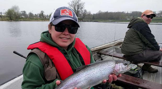 What a beauty: Cheryl James with one of her winning catches at Dromore
