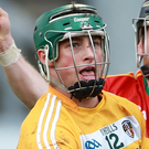Hot shot: Conor Johnston targets an Antrim treble