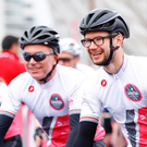 Gear up: All smiles at last year's Gran Fondo Giro d'Italia