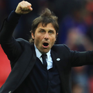 Winning combination: Chelsea boss Antonio Conte insists he wouldn't swap any of his players as they close in on title success
