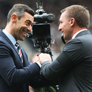 Smile for the camera: Pedro Caixinha and Brendan Rodgers