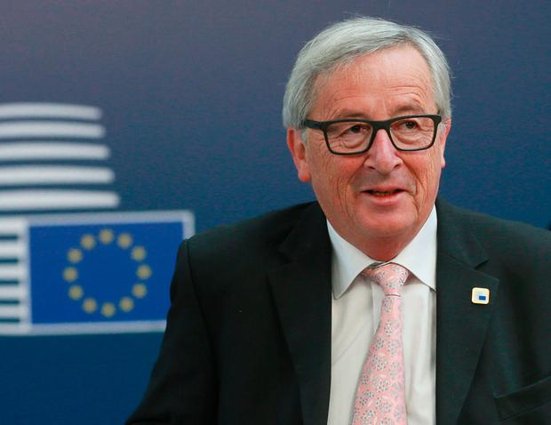 EU commission President Jean-Claude Juncker arrives at a special EU leaders' meeting of the European Council to adopt the guidelines for the Brexit talks, in Brussels on April 29, 2017. AFP/Getty Images