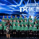 St Patrick's Primary School Drumgreenagh's junior choir stunned the BGT audience. Pic: Thames / Syco Entertainment