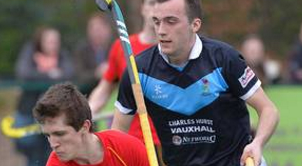 Double strike: Owen Magee struck twicefor Bann but it was in vain as they lost in a shoot-out