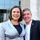 Jonathan Dowdall with Mary Lou McDonald before the split