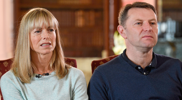Kate and Gerry McCann, whose daughter Madeleine disappeared from a holiday flat in Portugal 10 years ago, in an interview with the BBC's Fiona Bruce