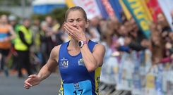 Outstanding: An emotional Laura Graham after her superb victory