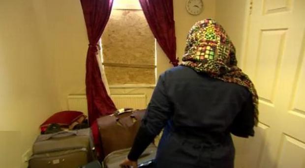 The woman has been forced to move to a hostel with her family. Pic BBC