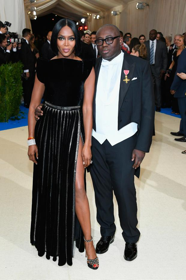Naomi Campbell and Edward Enninful attend the