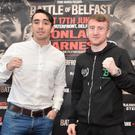 Belfast Boxers Jamie Conlan and Paddy Barnes during a press conference ahead of the Battle of Belfast Boxing Bill on he 17th of June in the Waterfront Hall. Pic Colm Lenaghan/Pacemaker