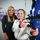 Bullseye: Banbridge archer Rebecca Lennon with UTV Sports correspondent Ruth Gorman