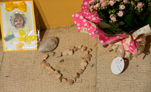 Tributes to Madeleine McCann outside the Church of Nossa Senhora da Luz in Praia Da Luz, Portugal, close to where Madeline McCann went missing from 10 years ago on May 3rd. PRESS ASSOCIATION Photo. Picture date: Wednesday May 3, 2017. Madeleine was three when she vanished from apartment 5A on Rua Dr Agostinho da Silva in the Algarve village at about 9pm on May 3 2007. See PA story POLICE Portugal. Photo credit should read: Steve Parsons/PA Wire