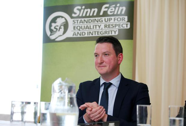 John Finucane pictured at the Sinn Féin North Belfast Selection Convention at the Lansdowne Hotel. Photo by Kelvin Boyes / Press Eye