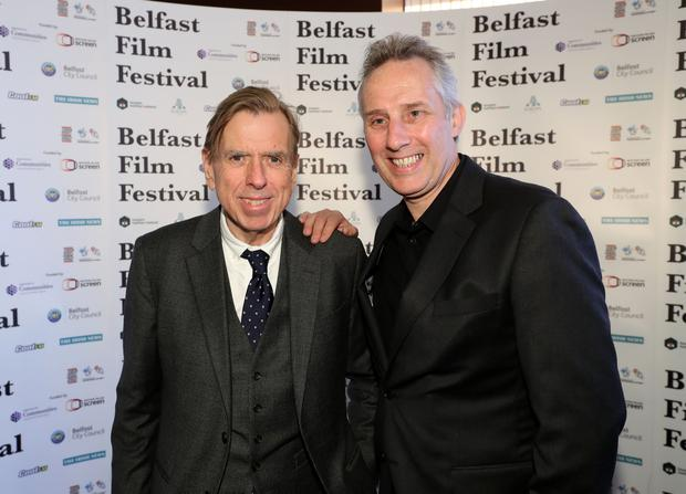 The Belfast Film Festival premiere of The Journey, in partnership with Movie House Cinemas took place in Belfast on Thursday 4 May. Pictured are Ian Paisley and Timothy Spall. Photo by William Cherry/Press Eye