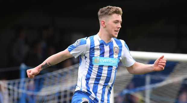 Dressed to thrill: Coleraine striker Jamie McGonigle aims to repay manager Oran Kearney for having faith in the young guns