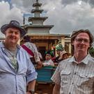 Dara O'Briain and Ed Byrne in a scene from Dara and Ed's Road to Mandalay