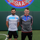 Stateside: Gerard McCartan (left) and Vinny Cadden ahead of New York's big showdown with Sligo