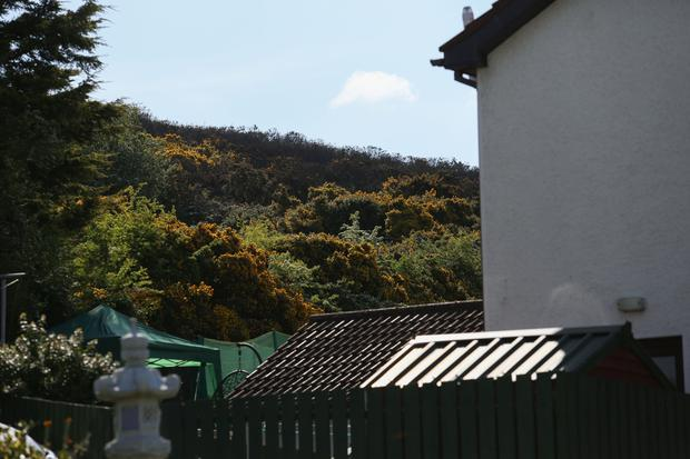 PressEye - Belfast - Northern Ireland - 6th May 2017 Pictured: The scene of a gorse fire in Newry, which came very close to houses in the O'Neill Avenue area. Picture: Philip Magowan / PressEye