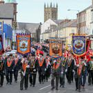 PressEye - Belfast - Northern Ireland - 6th May 2017 Pictured: General views of the parade in Portadown which marked the 500th Anniversary of the Protestant Reformation. Picture: Philip Magowan / PressEye