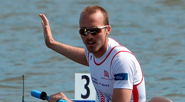 Out in front: Peter Chambers won gold in the lightweight double sculls at the World Cup in Belgrade. Photo: Getty Images