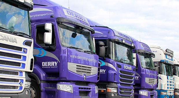 Derry refrigerated trucks at the company's Portadown premises